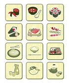 Japanese sushi-bar icons | BAMBOO series — Stock Vector