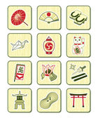 Japanese culture icons | BAMBOO series — Stock Vector