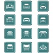 Cars icons | TEAL series — Stock Vector #6590613