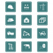 Construction icons | TEAL series — Stock Vector