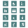 Stock Vector: Drinks icons | TEAL series