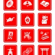 Stock Vector: Japanese culture icons