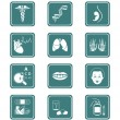 Medicine icons | TEAL series — Stock Vector