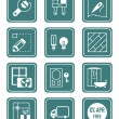 Home repair icons | TEAL series — Stock Vector