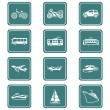 Stock Vector: Transportation icons | TEAL series