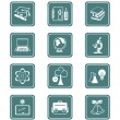 Royalty-Free Stock Vector Image: Education objects icons | TEAL series
