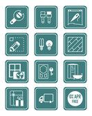 Home repair icons | TEAL series — Stock Vector