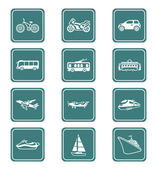 Transportation icons | TEAL series — Stock Vector