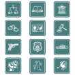 Royalty-Free Stock Vector Image: Law and order icons | TEAL series
