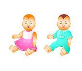 Baby dolls — Stock Vector