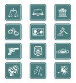 Prawa i porządku ikony | seria morski — Wektor stockowy