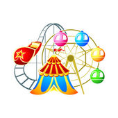 Amusement park symbol — Stock Vector