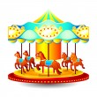 Stock Vector: Merry-go-round