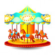 Merry-go-round — Stock Vector