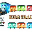Kids train — Stock Vector