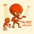 Mars attacks! — Stock Vector