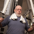 Senior Adult Man Working Out in the Gym. — Stock Photo #5422317