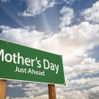 Mother's Day Green Road Sign — Stock Photo