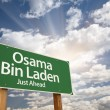 Osama Bin Laden Green Road Sign - Stock Photo