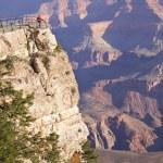 Woman Enjoys the Beautiful Grand Canyon Landscape View — Stock Photo #5660026
