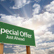 Special Offer Green Road Sign — Photo