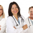 Hispanic Female Doctor and Colleagues — Stock Photo