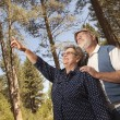 Loving Senior Couple Enjoying the Outdoors — Stock Photo