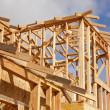 Royalty-Free Stock Photo: Abstract of Home Framing Construction Site
