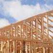Abstract of Home Framing Construction Site — Stock Photo #6681181