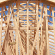 Abstract of Home Framing Construction Site — Stock Photo