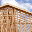 Abstract of Home Framing Construction Site — Stock Photo #6681199