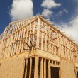 Abstract of Home Framing Construction Site - Stock Photo