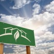 Green House Design Road Sign — Stock Photo