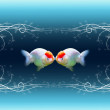 Kissing fishes — Stock Photo