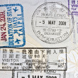 Immigration stamps — Stock Photo #5491187