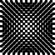 Black and white checktered pattern - Stock Photo