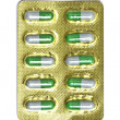 Green capsules — Stock Photo