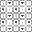 Seamless pattern of hearts — Stock Photo