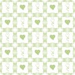 Seamless pattern of hearts — Stockfoto
