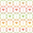 Seamless pattern of hearts — Foto de Stock
