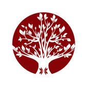 Red tree — Foto Stock
