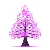 Purple tree — Stock Photo