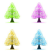 Colorful art trees — Stock Photo