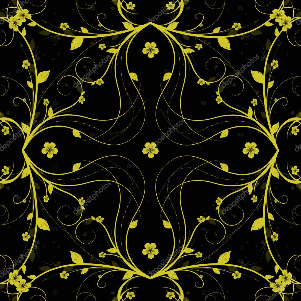 Beautiful background of abstract seamless floral pattern — Foto Stock #5843335