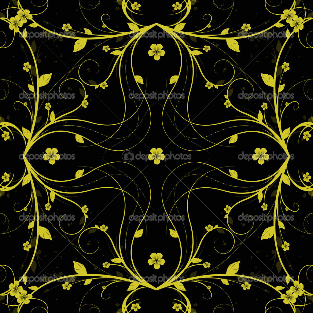 Beautiful background of abstract seamless floral pattern  Photo #5843335