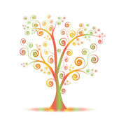 Colorful art tree — Stock Vector