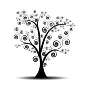 Art tree — Vector de stock