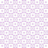 Seamless floral and dots pattern — Stock Vector