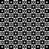 Seamless floral and dots pattern — Stockvektor