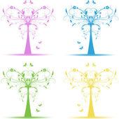 Art trees — Stock Vector